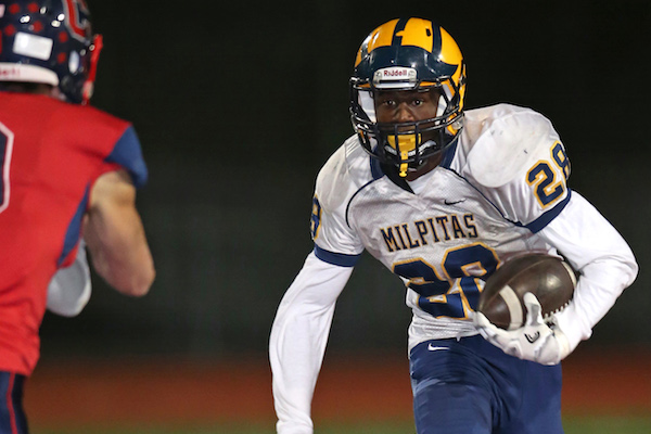 All Norcal Football 2017 Player Of The Year Tariq Bracy Milpitas