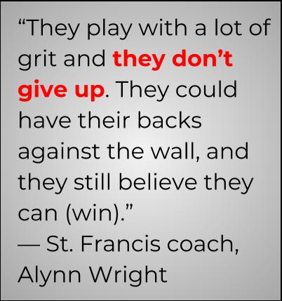 St. Francis volleyball, Alynn Wright