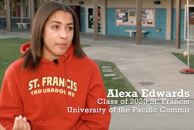 Alexa Edwards, St. Francis Volleyball