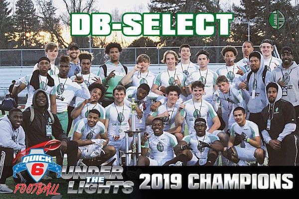 Quick 6 Football High School Division was the 7th Annual Under The Lights 7-on-7 on January 27 in Sacramento. DB-SELECT of Sacramento took the top prize