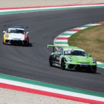 Jaden Conwright racing Porsche GT3 Cup in Italy