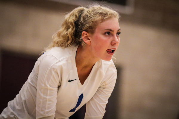 Rocklin volleyball star outside hitter, Ivana Erlandsen posted a team-leading 18 kills in a 3-1 win over Ponderosa-Shingle Springs