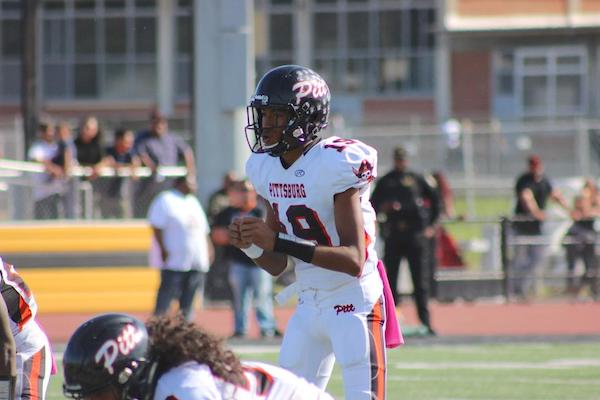 Jerry Johnson, the Pittsburg Pirates quarterback, tied a school record with six touchdown passes in a season-opening win